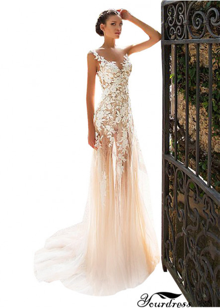 Yourdress Empire Line Sheath Wedding Dress With Lace