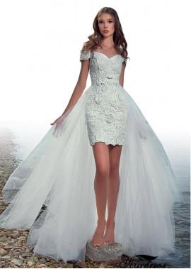 Yourdress Beach Short Lace Wedding Dresses Size 16