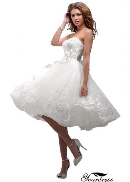 Yourdress Short Strapless  A Line Wedding Dress