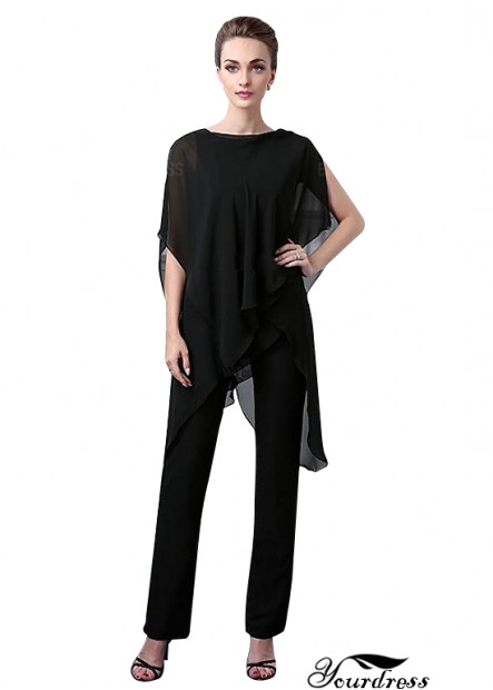 Cheap Black Long Evening Mother Of The Groom Pantsuits Sale 2021