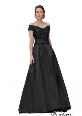 Black Evening Formal Dresses For Mother Of The Bride Weddings