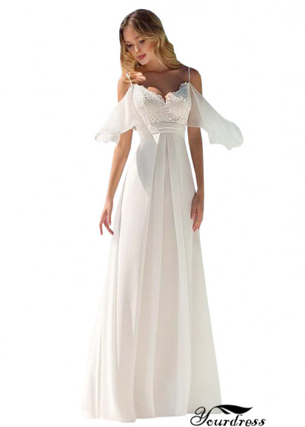 Yourdress 2021 Simple Chiffon Beach Wedding Dresses UK
