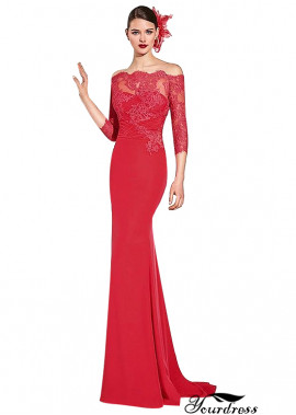 Yourdress Red Evening Wedding Dresses For Larger Sizes