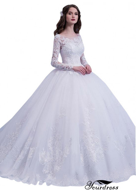 Yourdress 2021 UK Ball Gowns Long Sleeves Bridal Gowns