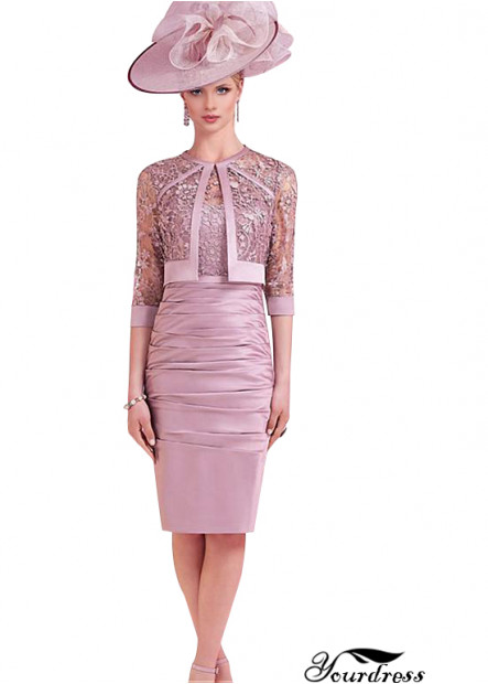 Yourdress Lace Sheath Short-Length Mother Of The Bride Dresses