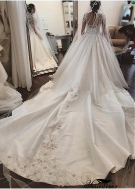 Yourdress Beatutiful Wedding Dress Ball Gowns With Long Trains
