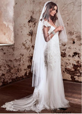 White Long and Short Tulle Wedding Veil UK Online