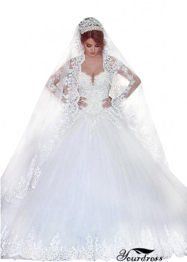 Tmdress Long Sleeves Wedding Bridal Dress UK Sale