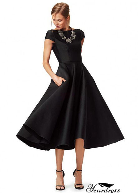 Yourdress 2021 Black A Line Mother Of The Bride Party Dress