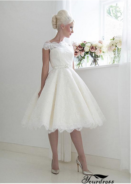 Yourdress Short Lace Wedding Dress