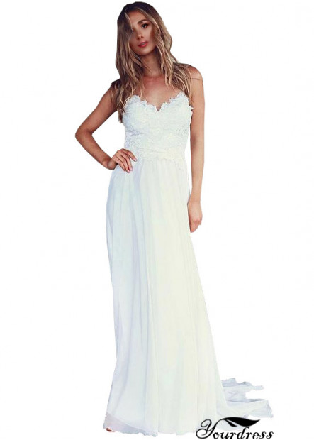 Sweetheart Long Sheath Chiffon Dresses For Weddings