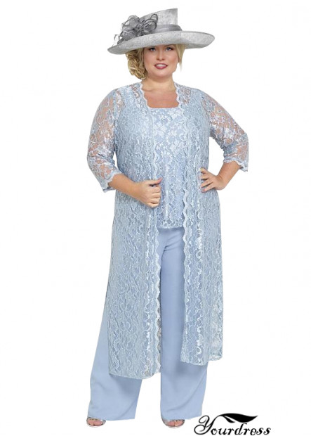 Yourdress PLus Size Mother Of The Bride Pantsuit Three PIeces 2021