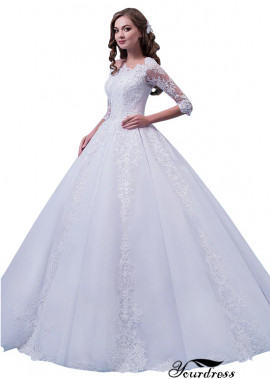 Yourdress Wedding Dress with Sleeves