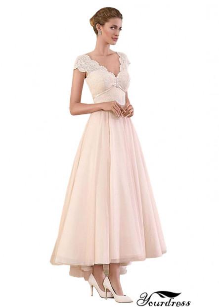 2021 Yourdress Tea Length Wedding Dress UK Sale