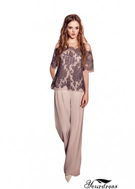 Wedding Trouser Suits For Mother Of The Bride With Sleeves