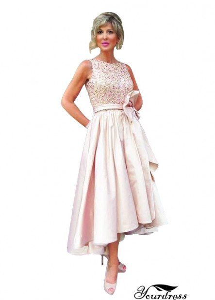 Yourdress Pink Short Or Tea Length Mother Of The Bride Dresses UK