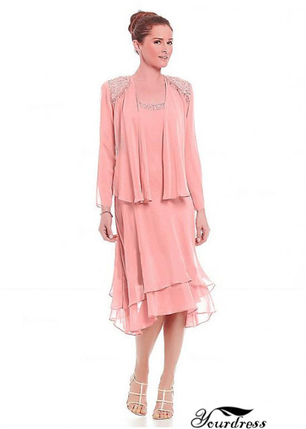 Yourdress Long Sleeve Tea Length Mother Of The Bride Dresses