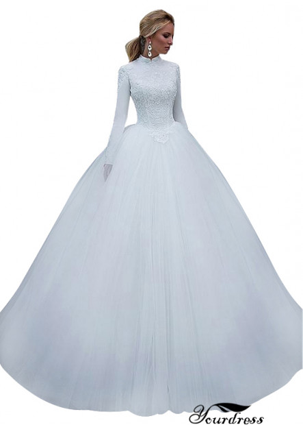 Yourdress High Neck Long Sleeves Ball Gowns UK Online Shop