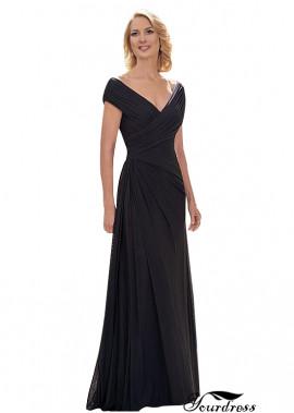Yourdress Black V Neck Mother Of The Bride Dress Evening Wedding