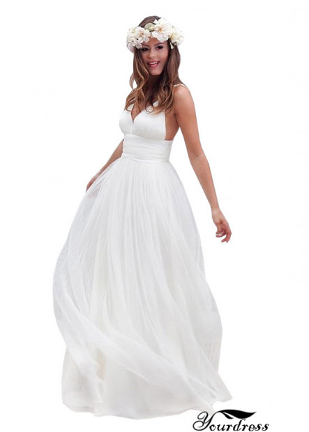 A line Backless Wedding Dress Bridal Gowns Online Sale