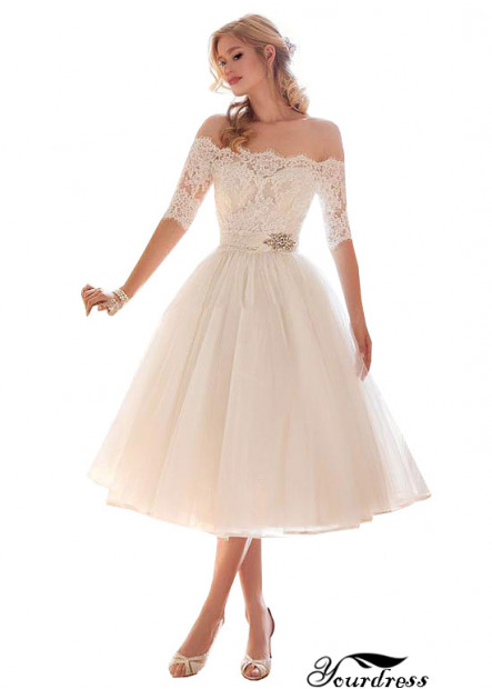 Off The Shoulder Short Beach Wedding Dress Scotland