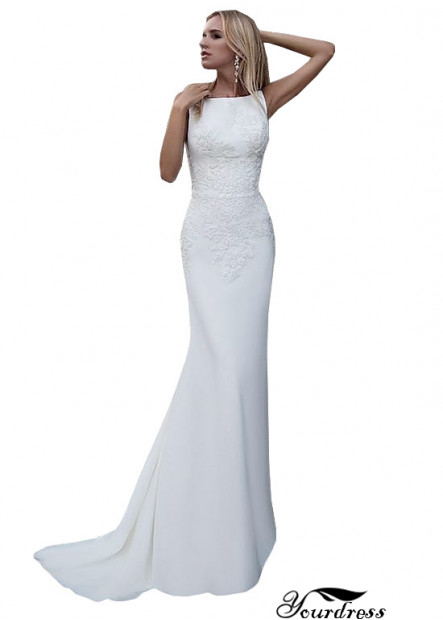 Yourdress Sheah Beach Wedding Dresses With Sweep Train