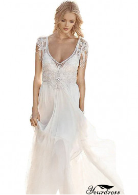 Yourdress Best Wedding Dresses Deep V With Crystals Online