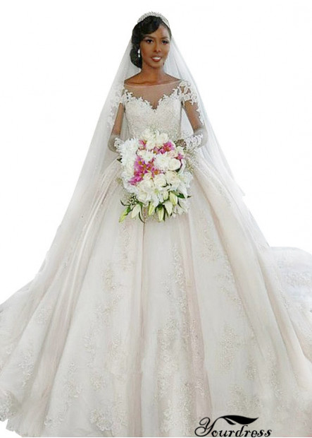 Yourdress Ball Gowns Cheap White Wedding Dresses For Sale