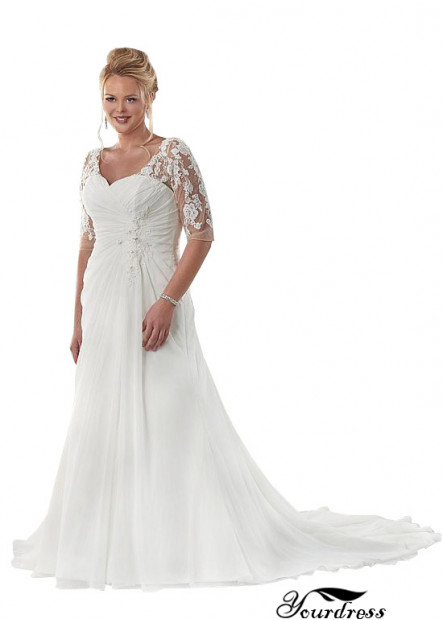 Yourdress Long Plus Size Wedding Dresses For Women With Train