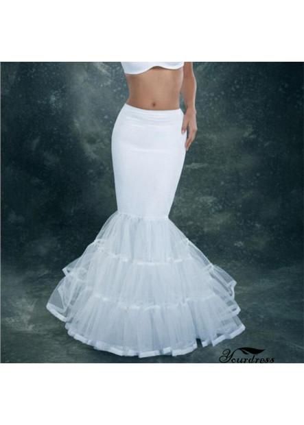Single steel three-layer hard net lotus leaf edging large fishtail elastic petticoat T901554186033