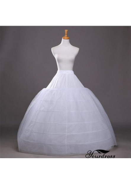 Increase the bride's wedding dressing skirt to increase the diameter of 120CM six steel ring two-layer yarn super Petticoat T901554187342