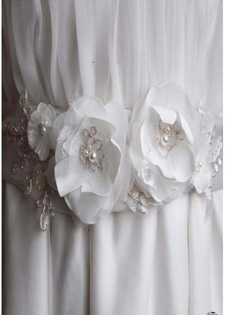Simple Handmade Flower Bride Sashes t901556004836