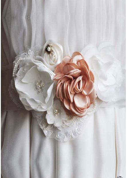 Classic Handmade Combination Flower Sashes t901556006083