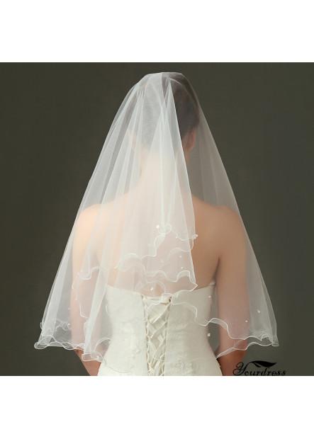 New wedding bride veil piping beaded yarn Wedding Veil T901525665905